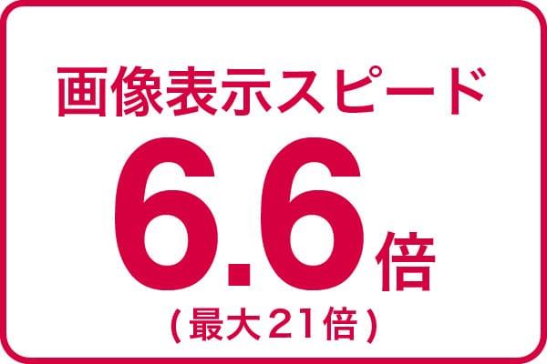 画像表示スピード6.6倍(最大21倍)